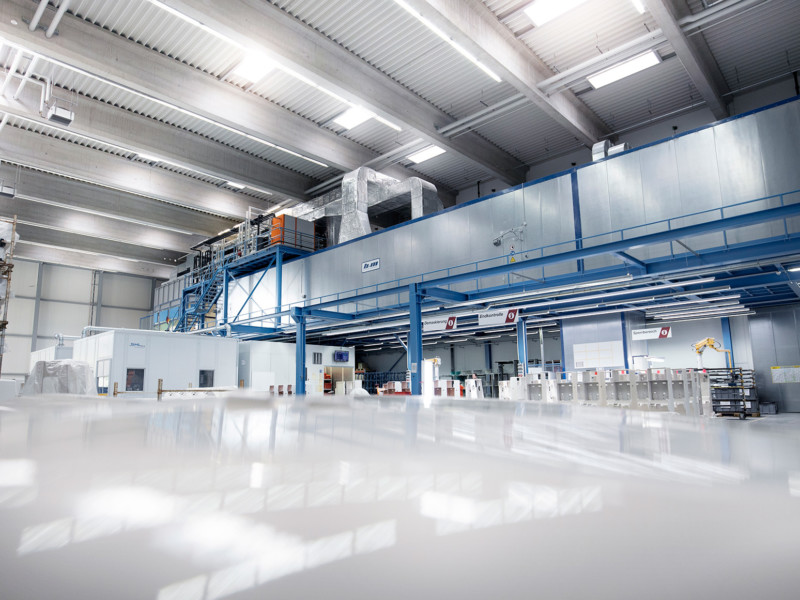 Kunststofftechnik Roboterlackierung Anlage