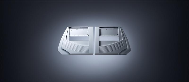 Fried Kunststofftechnik sorgt mit maßgenauen, außen- und innenlackierten TSG-Bauteilen für ein widerstandsfähiges, alltagstaugliches Gehäuse für Strickmaschinen.