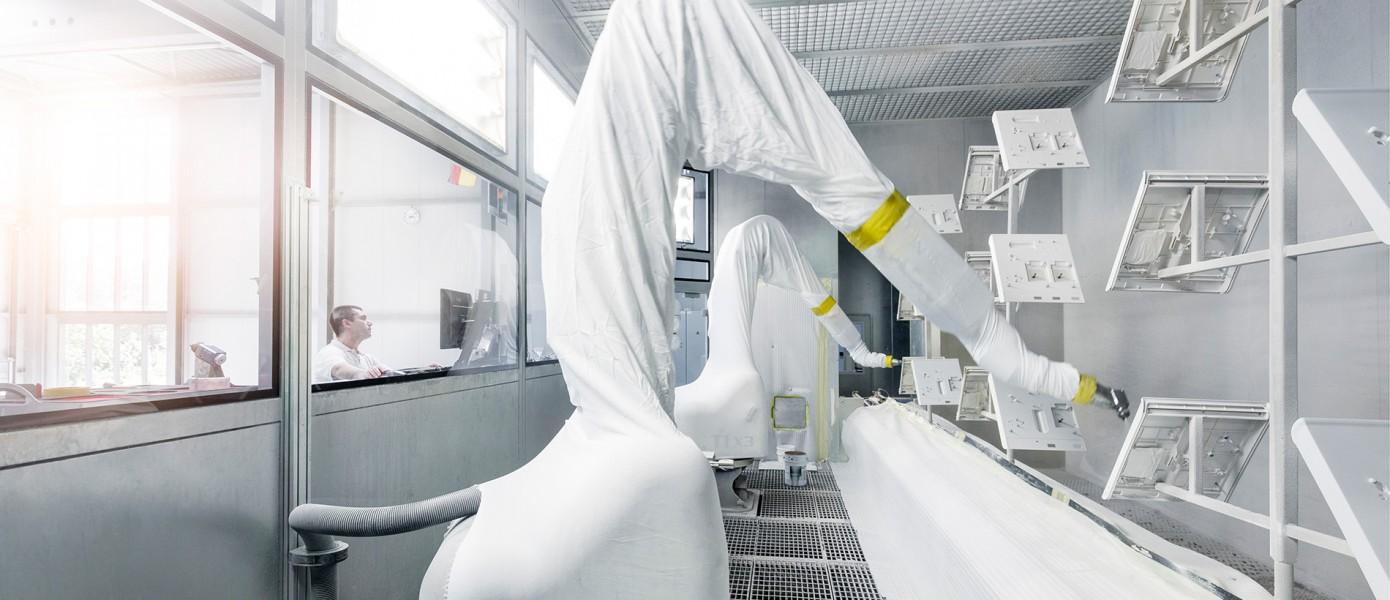 Roboterlackierung für Serienproduktion