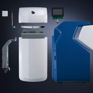Fried Kunststofftechnik ist bei der Entwicklung vom Prototyp bis zur Serienfertigung beteiligt, dabei besteht das Produkt aus mehreren Modulen, zusammengesetzt aus lackierten und unlackierten Bauteilen.