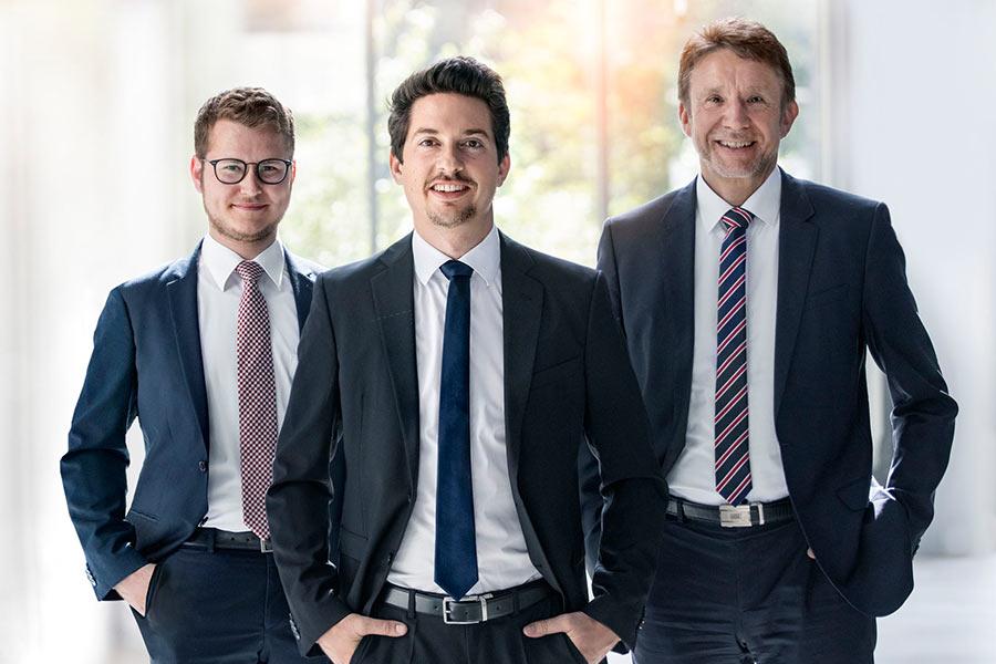 Von links: Lukas Fried, Felix Fried, Ralf Krüger